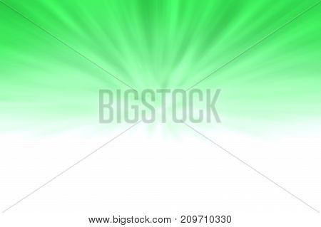 Abstract Of Green Zoom Blast With Blur Over White Gradient Background. Green Zoom Blast Background W