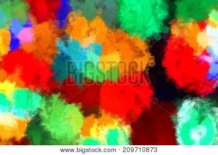 Abstract background with bright colorful spots pattern