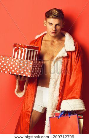 Handsome Macho Santa Man