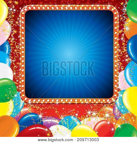 Bright Carnival or Party Sign Vector Image