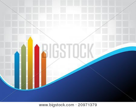 abstract business concept background with colorful arrowhead