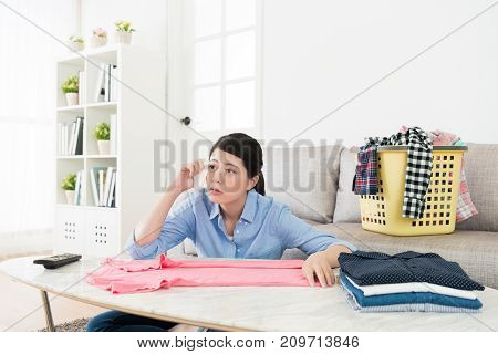 Sorrow Woman Using Face Paper Rubbing Tears