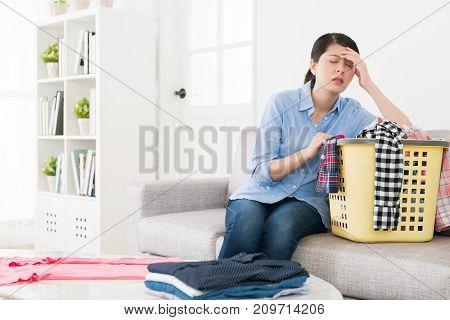 Young Elegant Housewife Making Housekeeping