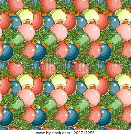 Merry Christmas and happy New Year seamless pattern with Santa and gifts on a white background. Stock vector.