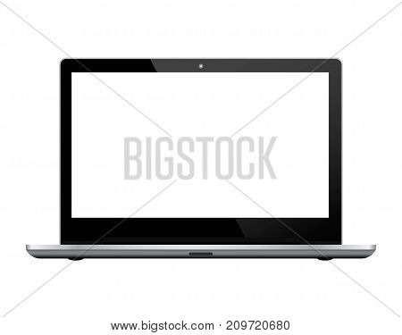 Black notebook on white background. Realistic vector illustration for graphic and web design