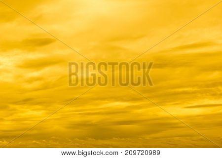 Yellow sunset sky, Yellow sunset background, cloudscape