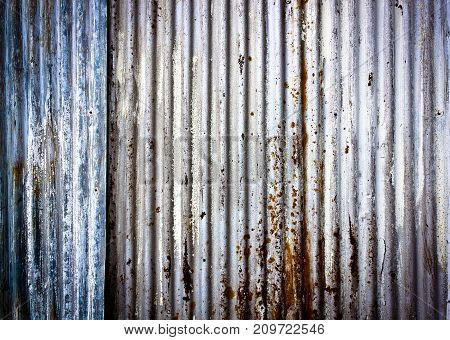 corrugated metal texture background, rusty  zinc background