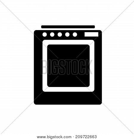 Icon of a gas stove black on a white background