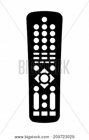 Remote Control - Icon, Isolated On White Background