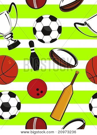 abstract sports equipment pattern background, vector illustration