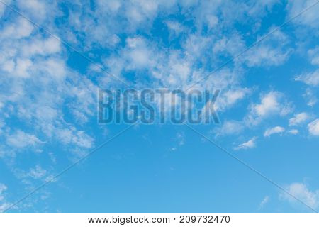 Blue sky with cloud clean energy power clear weather background
