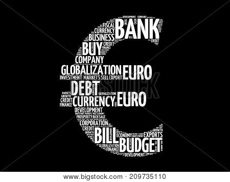 Euro Sign Word Cloud Collage