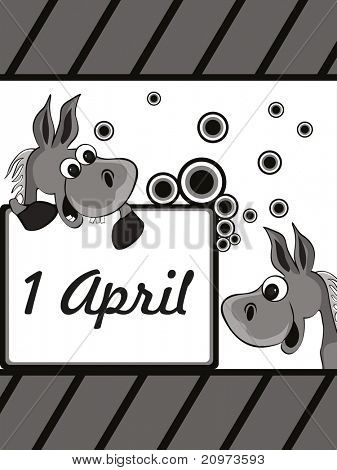 abstract panel lines background with fools day concept, vector illustration