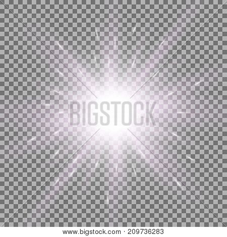 Shining Star On Transparent Background, Purple Color