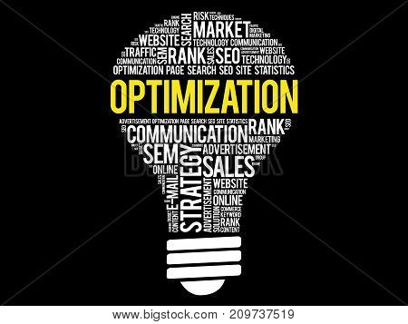 Optimization Bulb Word Cloud