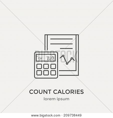 Modern Thin Line Icon. Flat Design Web Graphics Elements.
