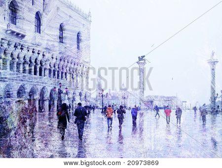 Vintage View Of Venice