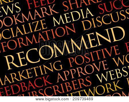 Recommend word cloud collage , business concept background