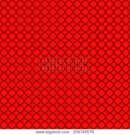 Red abstract seamless rounded square grid pattern background design - vector graphic design