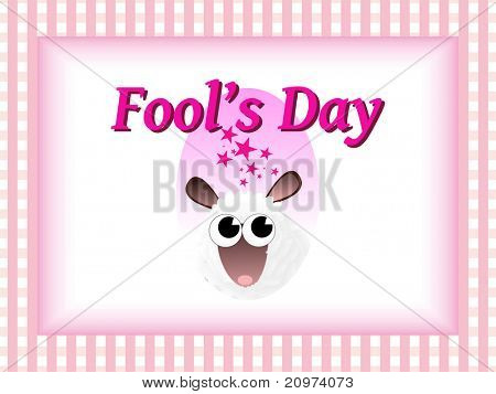 abstract concept background for fools day celebration, vector illustration