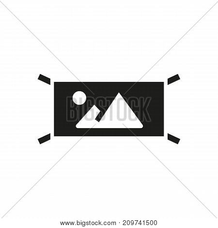 Simple icon of street banner with ad. Outdoor advertising, promotion, landscape camera scene. Advertising concept. Can be used for topics like business, commerce, photographing