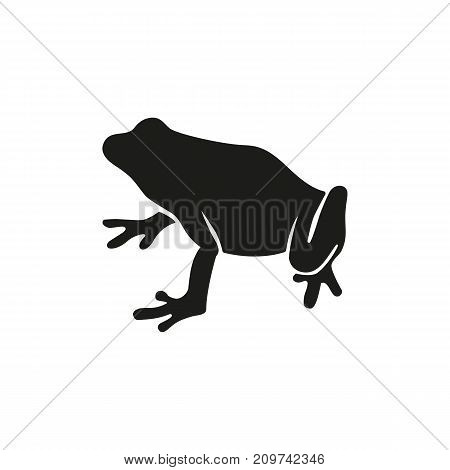 Simple icon of frog. Amphibian, aquarium, pet. Animals concept. Can be used for topics like zoo, fauna, zoology
