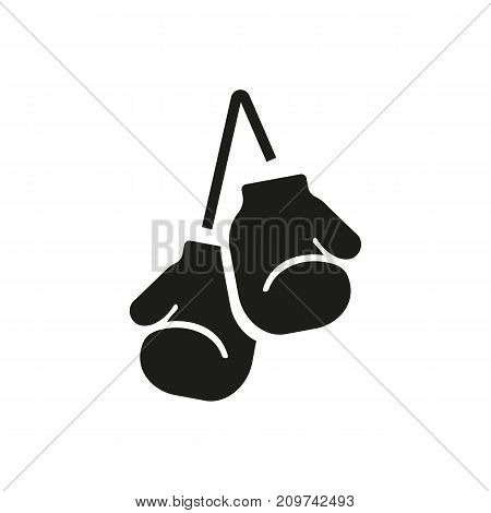 Simple icon of boxing gloves. Combat sport, sport equipment, boxing. Sporting goods concept. Can be used for topics like sport, leisure, shopping