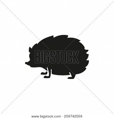 Simple icon of hedgehog. Domestic animal, mammal, forest. Pet types concept. Can be used for topics like fauna, wildlife, zoo