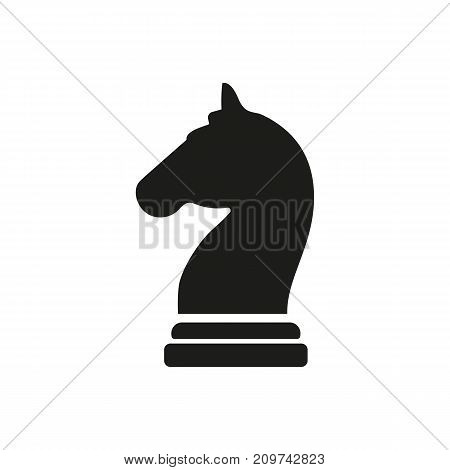 Simple icon of knight chess piece, chess equipment, leisure game. Sporting goods concept. Can be used for topics like sport, leisure, competition