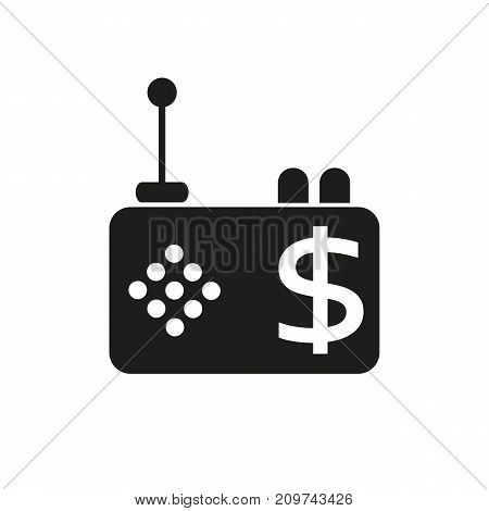 Simple icon of radio with dollar sign. Radio advertising, rating, mass media. Advertising concept. Can be used for topics like business, technology, shopping