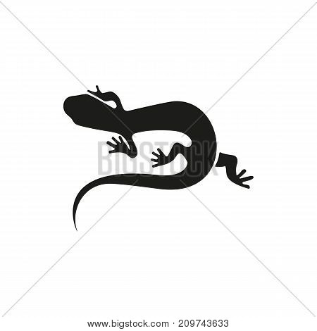 Simple icon of crawling salamander. Lizard, terrarium, desert animal. Animals concept. Can be used for topics like zoo, fauna, reptiles