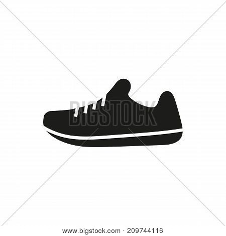 Simple icon of sport shoes. Sport footwear, sportswear, cleats. Sporting goods concept. Can be used for topics like sport, fashion, shopping