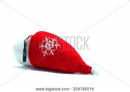 Christmas decoration - red - isolated - stock photo