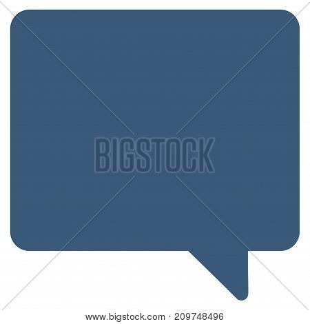 Message vector icon. Flat blue symbol. Pictogram is isolated on a white background. Designed for web and software interfaces.