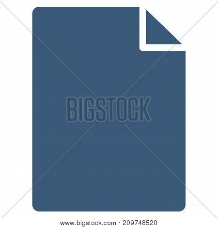 New File vector icon. Flat blue symbol. Pictogram is isolated on a white background. Designed for web and software interfaces.