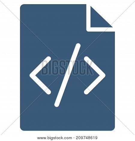 Programming Script Page vector icon. Flat blue symbol. Pictogram is isolated on a white background. Designed for web and software interfaces.