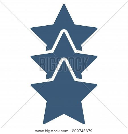 Rating Stars vector icon. Flat blue symbol. Pictogram is isolated on a white background. Designed for web and software interfaces.