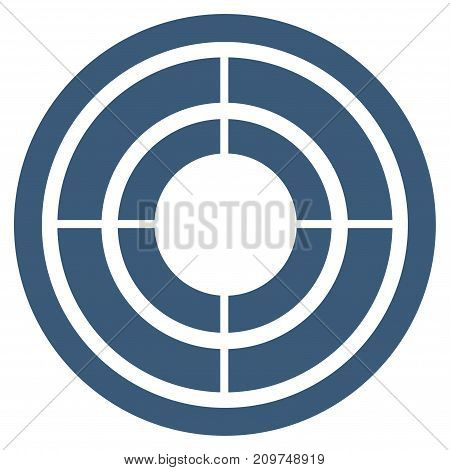 Target vector icon. Flat blue symbol. Pictogram is isolated on a white background. Designed for web and software interfaces.