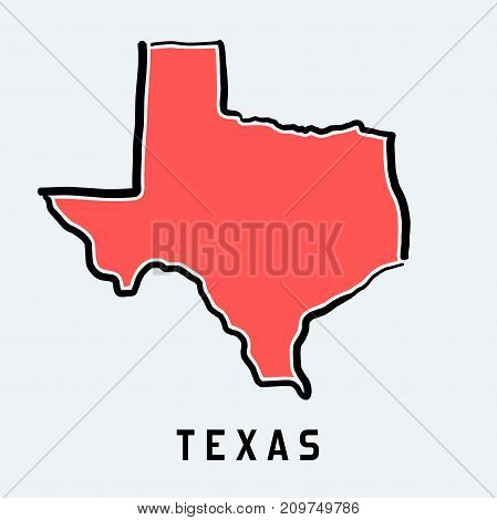 Texas Map Outline