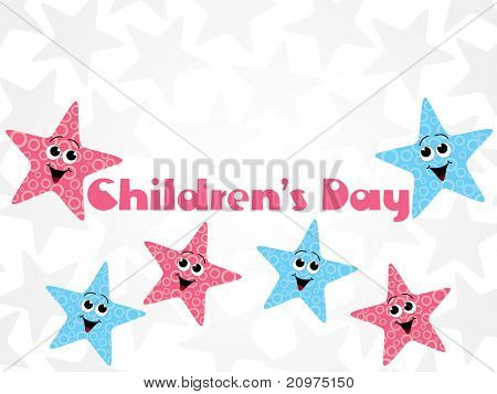 abstract funky kiddish background for children day