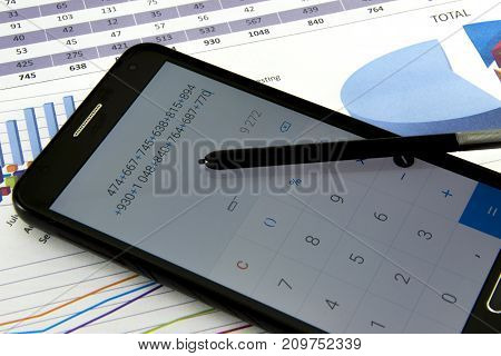 Accountant Verify The Accuracy Of Financial Statements. Bookkeeping, Accountancy Concept.