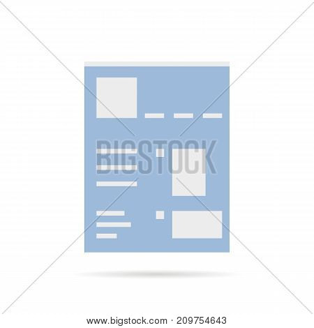 simple social network page template. concept of web text book, corporate talking, client, promo, global blogging, linked. flat style trend modern logo design vector illustration on white background