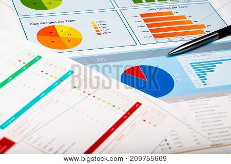 Business charts graphs white closeup financial market