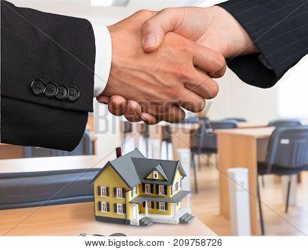 Business hands men businessmen background view space