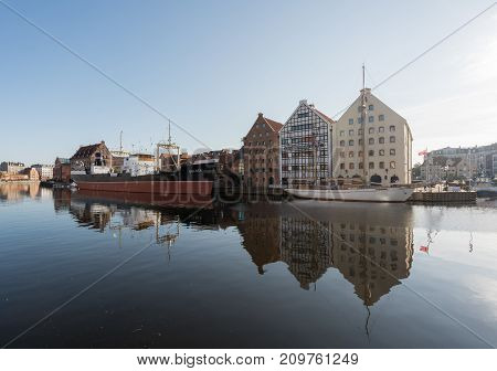 GDANSK, POLAND - 16 SEPTEMBER: National Maritime Museum on 16 September 2017 in Gdansk, Poland. The museum was established in 1962