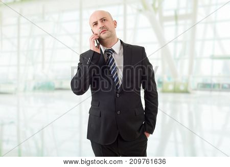 business man on the phone, at the office