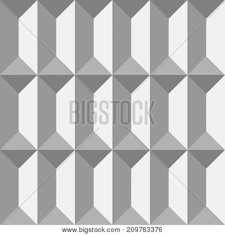 3D paper bricks. Seamless vector pattern background.
