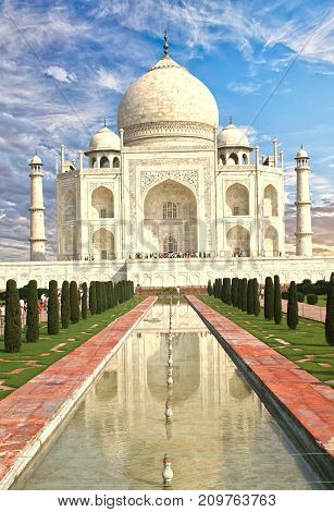 Taj Mahal in Delhi is one of the manmade structures of the worls and is a UNESCO Heritage site. It is a popular place for tourists to visit Delhi India 2017