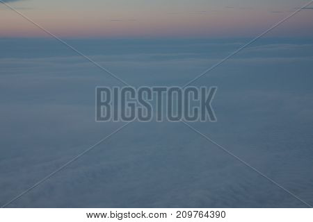 Beautiful view of the sky from the airplane