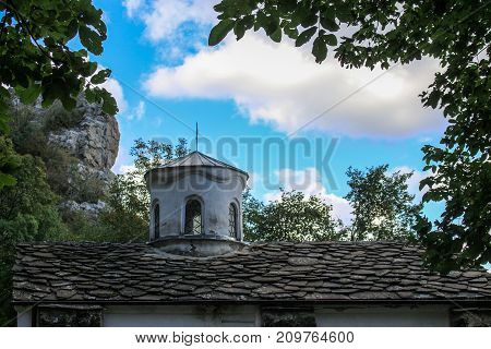 The Roof of St. John Pusty Monastery in the Forests of Vratza Balkan, Bulgaria